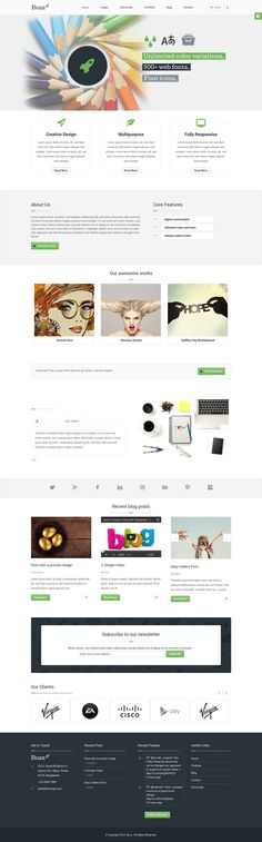 Buzz- Multipurpose #WordPress #Theme by mona lisa, via Behance
