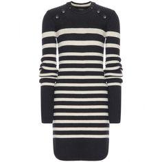 Isabel Marant Haeza Sweater Dress ($985) ❤ liked on Polyvore featuring dresses, blue, black dress, isabel marant, black sweater dress, sweater dress and kohl dresses