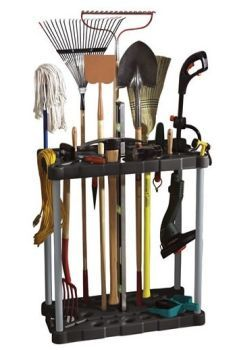 Short on wall space? Instead of hanging tools, find a tool tower made for long-handled items.