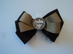 Brownie Layered Hair Bow by cheerfuldianna80 on Etsy, $7.00