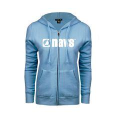 Navs Ladies Light Blue Fleece Full Zip Hoodie