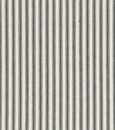 Home Decor 8''x 8'' Fabric Swatch-Upholstery-Waverly Classic Ticking/Black