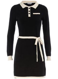 Black & Cream Shirt Dress / Dorothy Perkins