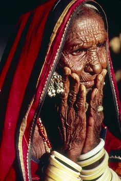 Hyderabad Woman by United Nations Photo lines of pain...hard work...love and lost....WISDOM!
