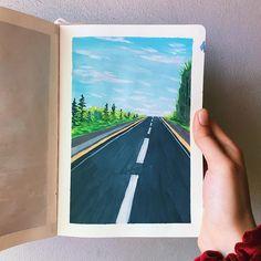 Watercolor Paintings For Beginners, Beginner Painting, Watercolor Art, Small Canvas Art, Mini Canvas Art, Gouche Painting, Art Anime, Guache, Art Sketchbook