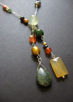 Autumn Lariat Necklace