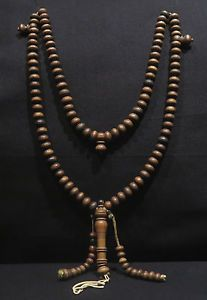 Old Chaplet - Tasbih - Wooden Beads - Morocco