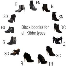 Black booties for all Kibbe types