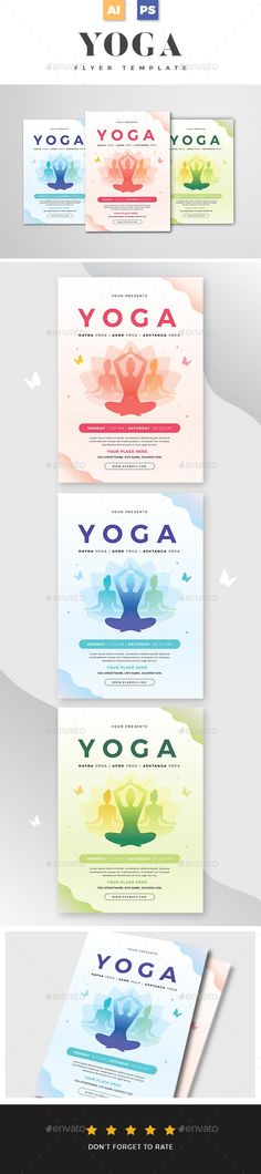 Yoga Flyer, Sports Flyer, Flyer Template, Templates, Poster, Stencils, Vorlage, Models, Billboard