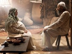 Free Bible images: When God promises Zechariah and Elizabeth a son ...