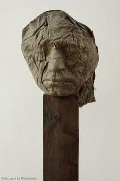 "Magdalena Abakanowicz, ""Little Head 3"", foto: Laura La Wasilewska"