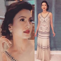 Gauhar Khan for the Jio Filmfare pre-awards party in an outfit from Not So Serious by Pallavi Mohan  #bollywoodcelebs #bollywoodclothes #indianfashion #inspiration #gauharkhan