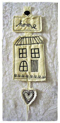 Mini Machine Embroidered Door Quiltie  Via Peregrine Blue