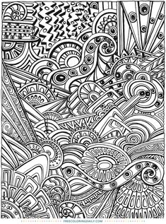 Free Coloring Page Amazing Patterns