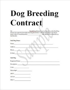 Fill Free Printable Puppy Contract Download Blank Or
