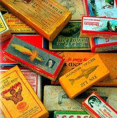 Collection of Fishing Lure Boxes