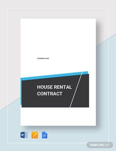 House Rental Agreement Template - Word (DOC)   Google Docs   Apple (MAC) Apple (MAC) Pages   Template.net Rental Agreement Templates, Contract Agreement, Cleaning Contracts, Three Bedroom House, How To Improve Relationship, Home Logo, Word Doc, Letter Size, Clean House