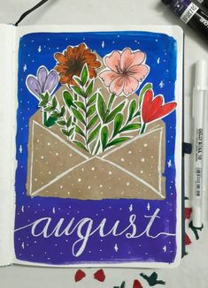 omg you NEED to check out these August bullet journal cover page ideas! I am in love with all of the summer bujo themes 😍 - august bullet journal cover easy - august bullet journal cover simple, august bullet journal cover watermelon, august bullet journal cover beach, august bullet journal cover school, august bullet journal cover minimalist, august bullet journal cover flowers, august bullet journal cover summer and more! August Bullet Journal Cover, Bullet Journal Cover Ideas, Bullet Journal Hacks, Bullet Journal Mood, Bullet Journal Aesthetic, Bullet Journal Spread, Journal Covers, Bullet Journal Inspiration, Cover Pages