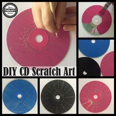 DIY Scratch Art to create to practice prewriting skills, drawing skills, visual motor skills and pencil pressure for students. Cd Crafts, Creative Crafts, Sharpie Crafts, Diy Crafts For Kids, Art For Kids, Prewriting Skills, Cd Diy, Scratchboard Art, Scratch Art