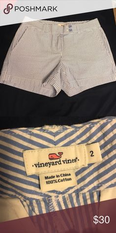 "NWOT Vineyard vines seersucker shorts NWOT, never worn! These are the dayboat shorts and I believe they are a 3.5"" inseam. Vineyard Vines Shorts"