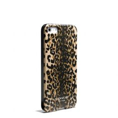 Coach :: Iphone 5 Case In Madison Ocelot Print