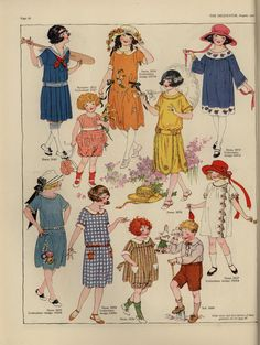 The Delineator 1922( love the children's styles