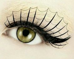 Webbed Lashes with a great simple black eyeliner.