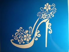 NEW * High heel Girly topper cake stencil cake decoration girly design pattern