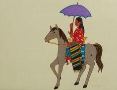Purple Parade Parasol  by Sharron Ahtone Harjo  kp