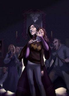 Hermione Granger and Bellatrix Lestrange Anime