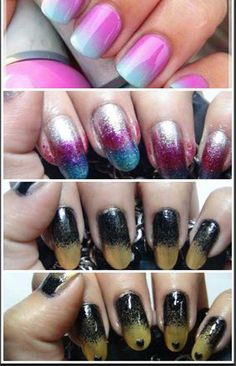 Best Tutorials for Ombre Nails - Amazing Ombre Nail Art Tutorial With Detailed Steps - We've Found The Worlds Best Tutorials For Ombre Nails. We Have Videos And Step By Step DIY Guides And Pictures To Help You Master The Ombre Nails Look. Nails Yellow, Pink Ombre Nails, Red Nails, Nice Nails, The Menu, Glitter Acrylics, Ombre Nail Designs, Cool Nail Designs, Good Tutorials