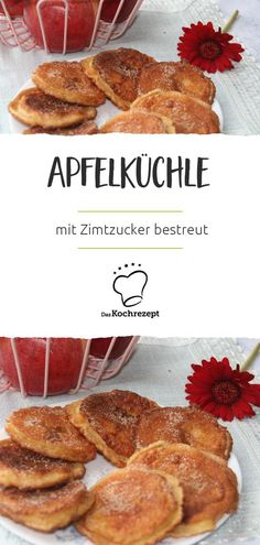 Apfelküchle They are definitely healthy for the soul: fried apple fritters, turned into cinnamon sugar. Low Carb Pancakes, Savory Pancakes, Homemade Pancakes, Vegan Pancakes, Best Pancake Recipe Ever, Vegan Pancake Recipes, Best Recipe Box, Vegan Banana Bread, Easy Banana Bread