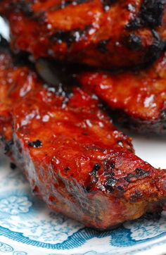 ***Recently, Brad and I put together a scrumptious meal...Grilled BBQ Ribs with Homemade BBQ Sauce, Mashed Potatoes with Scallions, and Gre...