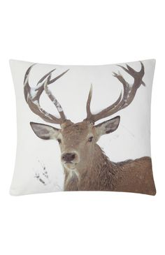 Primark - Stag Photo Print Cushion £5