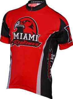 NCAA Mens Miami Ohio Red Hawks Cycling Jersey Large Red    See this great  product 30d572864