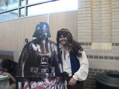 """""""Captain"""" Jack Sparrow and Darth Vader at Anime Blast Chattanooga 2012"""