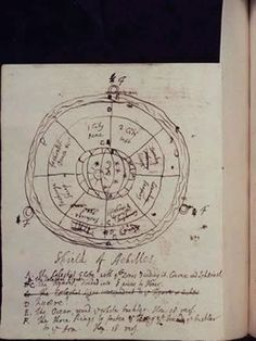 Travels with Alexander the Great - Extract from Alexander Pope's draft translation of Homer's 'The Iliad', with a sketch of the Shield of Achilles. Pope (1688-1744) was the most famous English poet and satirist of his age.
