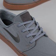 3d4f12b776b4 Nike SB Stefan Janoski Canvas Shoes - Cool Grey   Anthracite - Black - Gum  Mid Brown