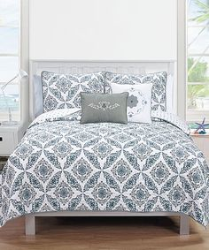 Look what I found on #zulily! Gray Melody Collection Quilt Set #zulilyfinds