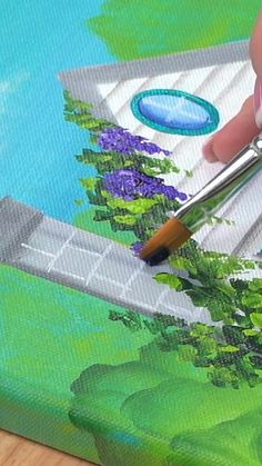 Canvas Painting Tutorials, Acrylic Painting Techniques, Painting Videos, Donna Dewberry Painting, Stone Painting, Painting Art, Paintings, Watercolor Art Lessons, One Stroke Painting