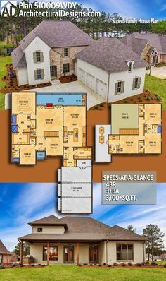 Architectural Designs Acadian House Plan 510009WDY gives you over 3,100 sq ft of heated living space with 4+ beds and 3+baths. Ready when you are! Where do YOU want to build? #510009WDY #adhouseplans #architecturaldesigns #houseplan #architecture #newhome #newconstruction #newhouse #homedesign #dreamhome #homeplan #architecture #architect #housegoals #house #home #design #frenchcountry #Acadian #European