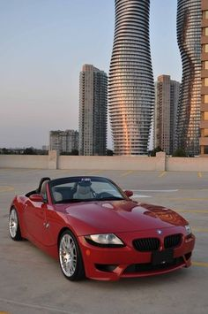 BMW Z4 M Roadster in Imola Red... SO want this