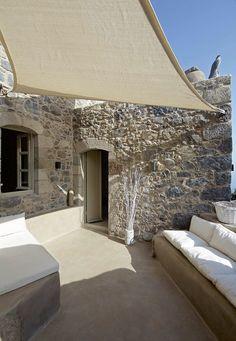 Melanopetra, Nisiros island, Greece
