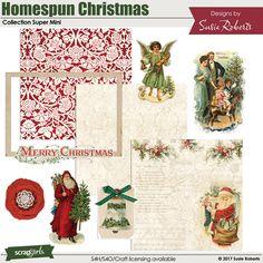 Homespun Christmas Collection Super Mini