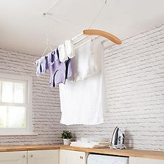 Modern Extendable Ceiling Airer to Maximise Drying Space Up to Boot Room Utility, Laundry Dryer, Laundry Room, Ceiling Storage, Kitchen Utilities, Space Up, Modern Ceiling, Modern Classic, Classic Chic