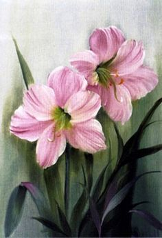 Bob Ross Flower Painting - The Best Picture of Painting Lily Painting, Acrylic Painting Flowers, China Painting, Watercolor Flowers, Watercolor Paintings, Frames For Canvas Paintings, Canvas Art, Beautiful Flower Arrangements, Beautiful Flowers