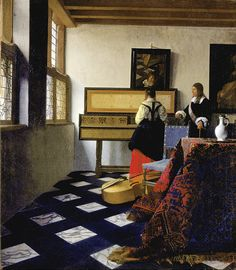 Johannes Vermeer - Lady at the Virginal with a Gentleman, 'The Music Lesson' - Google Art Project (Royal Collection of the United Kingdom)