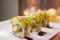 This delicious chicken teriyaki roll is the perfect introduction to sushi - plenty of flavour without the sashimi element. Go on give it a try :) #sushi #food
