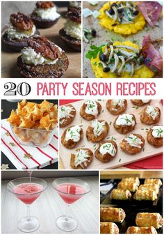 Twenty tasty recipes to get your party sparkling for the holiday season