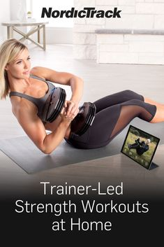 Gym Workout Videos, Best Ab Workout, Gym Workouts, At Home Workouts, Strength Workout At Home, Strength Training, Fitness Workout For Women, Fitness Tips, Dumbbell Set